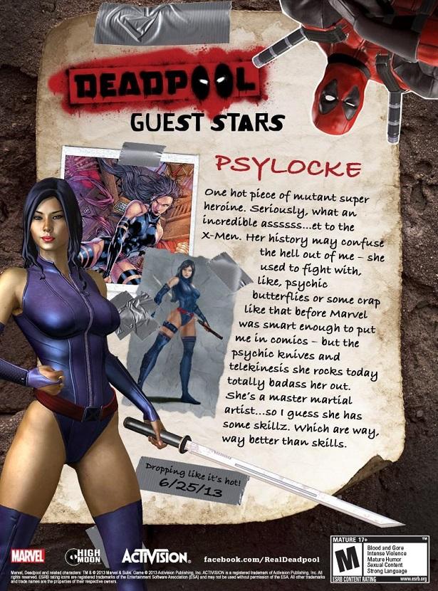 Psylocke Deadpoo video game