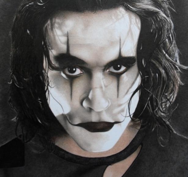 Brandon Lee - The Crow (detail)