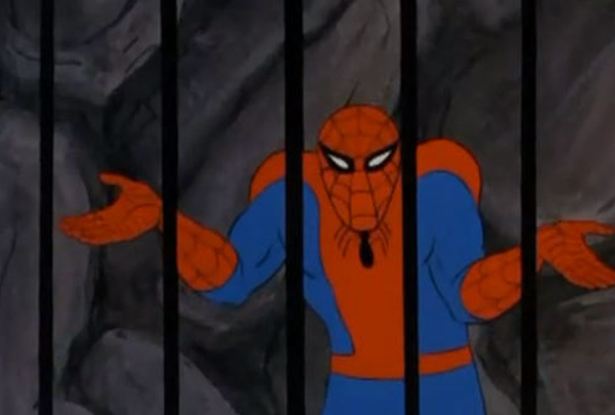masoqqj os momentos mais sem noção da primeira animação do homem aranha,Meme Homem Aranha