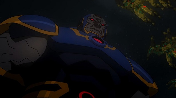 Justice League War Darkseid and Parademons