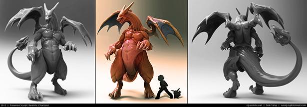 pokemon_sculpt__realistic_charizard_2012_by_cg_sammu-d5k39tn