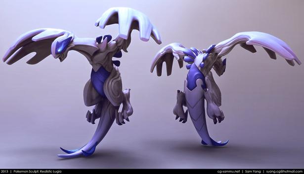 pokemon_sculpt__realistic_lugia_2013_by_cg_sammu-d5yctk6