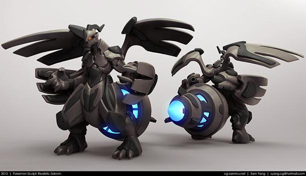 pokemon_sculpt__realistic_zekrom_2013_by_cg_sammu-d5zxx9c